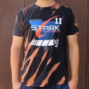 Marvel Tony Stark Racing Bleach Tee sz L HP🎉